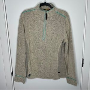 Hot Chilly's Thermal zip turtleneck sweater
